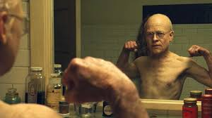 Benjamin Button movie, as he ages backwards