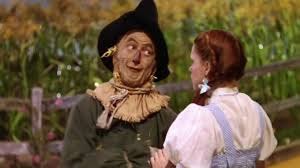 Dorothy and the scarecrow from the wizard of oz