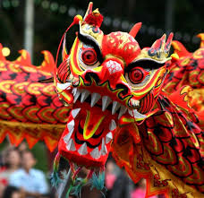 chinese dragon from lunar new year parade