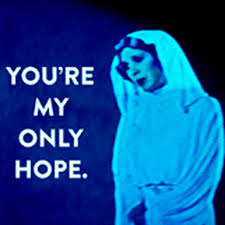 "Princess Leia, ""You're my only hope"""