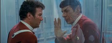 Kirk and Spock saying goodbye