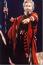 "Charlton Heston as Moses in ""The Ten Commandments"""