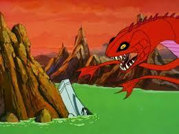 the sea creature attacking the enterprise vessel