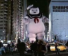 The Stay Puft Marshmallow Man, as seen in Ghostbusters II