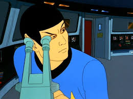 Spock has circles around his eyes after looking through a telescope