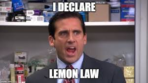 """Michael Scott from """"The Office"""" says """"I declare, Lemon Law"""""""