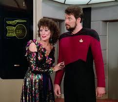 Lwaxana and Riker