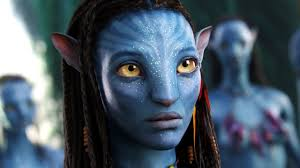 A picture of one of the female Avatars from the movie AVATAR