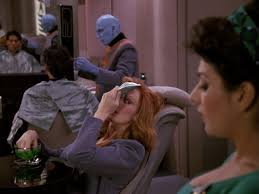 Bev and Troi at the beauty parlor