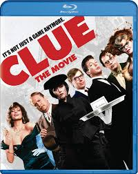 """DVD cover for the movie """"CLUE"""" with Tim Curry and the other people."""