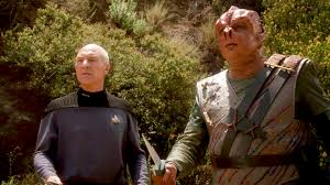 Dathon and Picard on planet
