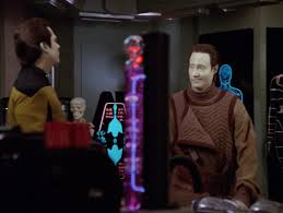Data and Lore look at each other