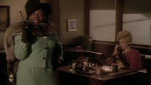 Whoopi Goldberg in the Dixion Hill simulation and Dixon's secretary in the opening scene.