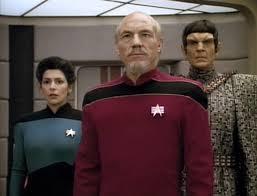 Troi, Picard, and Tomalak