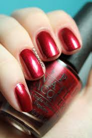 """I'm not really a waitress"" deep red color by OPI"
