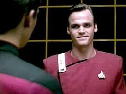 Wesley in the holodeck listening to Jack Crusher's message to him
