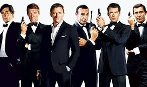 An image of Bond actors so far: from left to right (Dalton, Moore, Craig, Connery, Brosnan, and the dude from OHMSS)