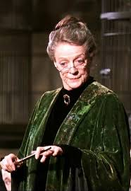 Dame Maggie Smith as Professor McGonagall in Harry Potter