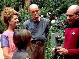 Robert, Marie, Rene, and Picard say goodbye to each other