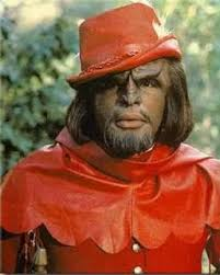 Worf as Will Scarlett in the episode Qpid