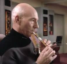 Picard playing his flute
