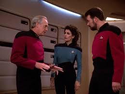 Jellico, Troi, and Riker
