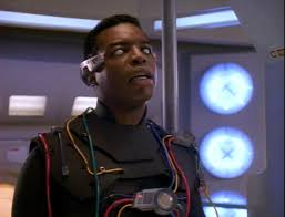La Forge in the suit