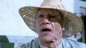 surprised old man Picard face in his sun hat