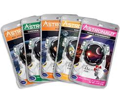 A set of 5 astronaut food packets