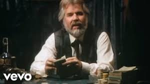"Kenny Rodgers as ""the gambler"""