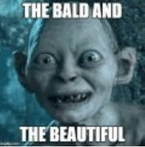 "Gollum says ""the bald and the beautiful"""