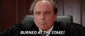 "Judge Wexler from Ghostbusters II ""burned at the stake!"""