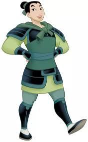 Mulan in uniform as Ping.