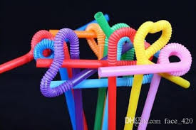Flexible, colorful bendy straws