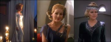 The Bajoran widow in three of her outfits