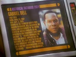 Gabriel Bell entry with Sisko's picture