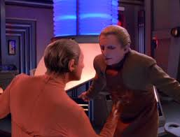 Two changelings fight each other: Odo and the unnanmed man
