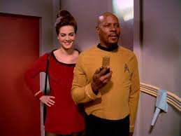 Dax and Sisko in Vintage uniforms