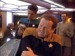 """Bashir checking out O'Brien after he """"hurt"""" his shoulder"""
