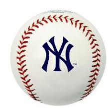 New York Yankees insignia on a baseball