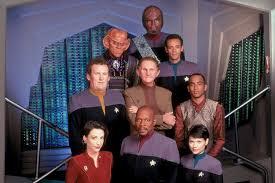 Season 7 cast (Worf, Quark, Bashir, O'Brien, Odo, Jake, Kira, Sisko, Ezri Dax)