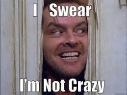 """I swear I'm not crazy"" jack from the shining"