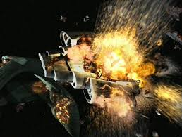 The Defiant exploding