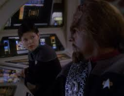 Ezri and Worf sniping at each other