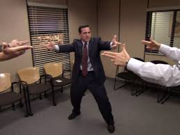 "The Office does ""a Mexican standoff"""