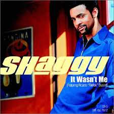 """Shaggy, """"It wasn't me"""" single cover"""