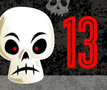 a skull and the number 13