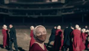 Handmaid's Tale, they are corralled in a stadium