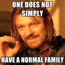 One does not cimply have a normal family - LOTR meme
