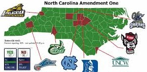 votes for marriage equality were in places where there is a university in the state of NC